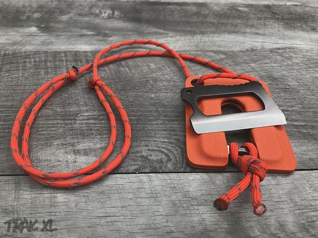 TRAK XL with Optional Orange Kydex Sheath
