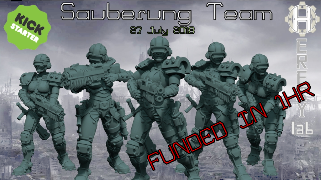 HeresyLab - The Sauberung Punisher Squad Miniatures and STL project video thumbnail