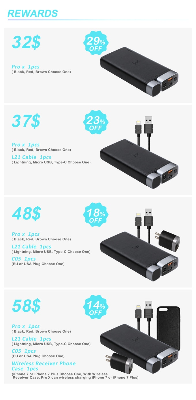Puridea Pro X A Portable Wireless Power Bank By Kickstarter Adapter Micro Android To Type C Hippo Black 0000