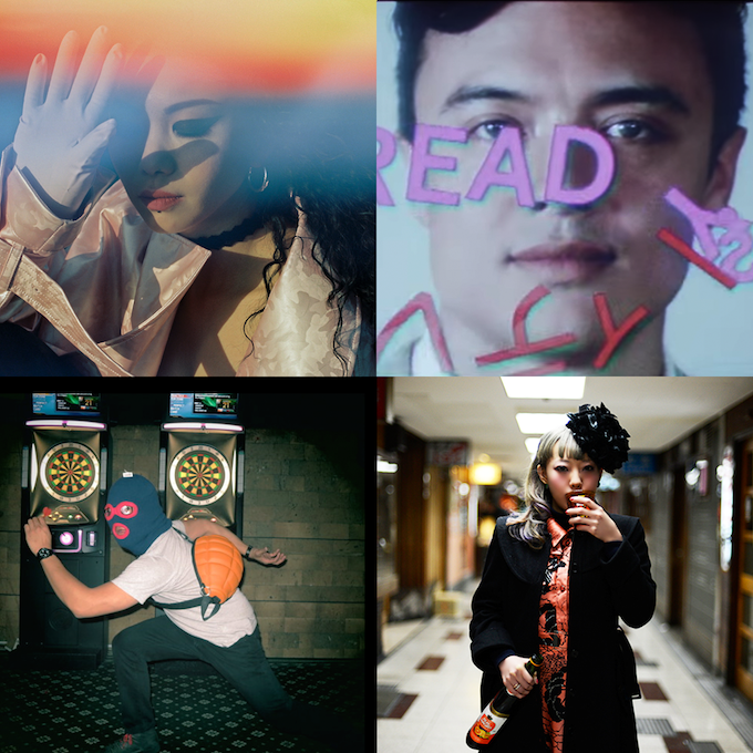 Clockwise from top left: ChaCha Yehaiyahan, HJHM, Kudo Kamome, Crunchybird