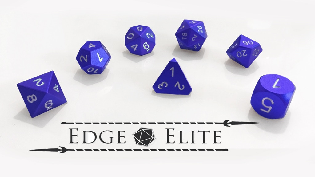 Project image for Edge Elite: A new line of Elite Gaming Dice. (Canceled)