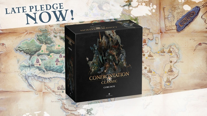 Confrontation, the skirmish miniature game now comes back in a Full METAL Celebration Box.