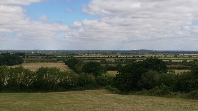 Lewis Carroll's inspiration - the view of Otmoor from Beckley