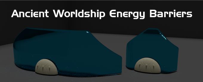 Digital render of energy barriers