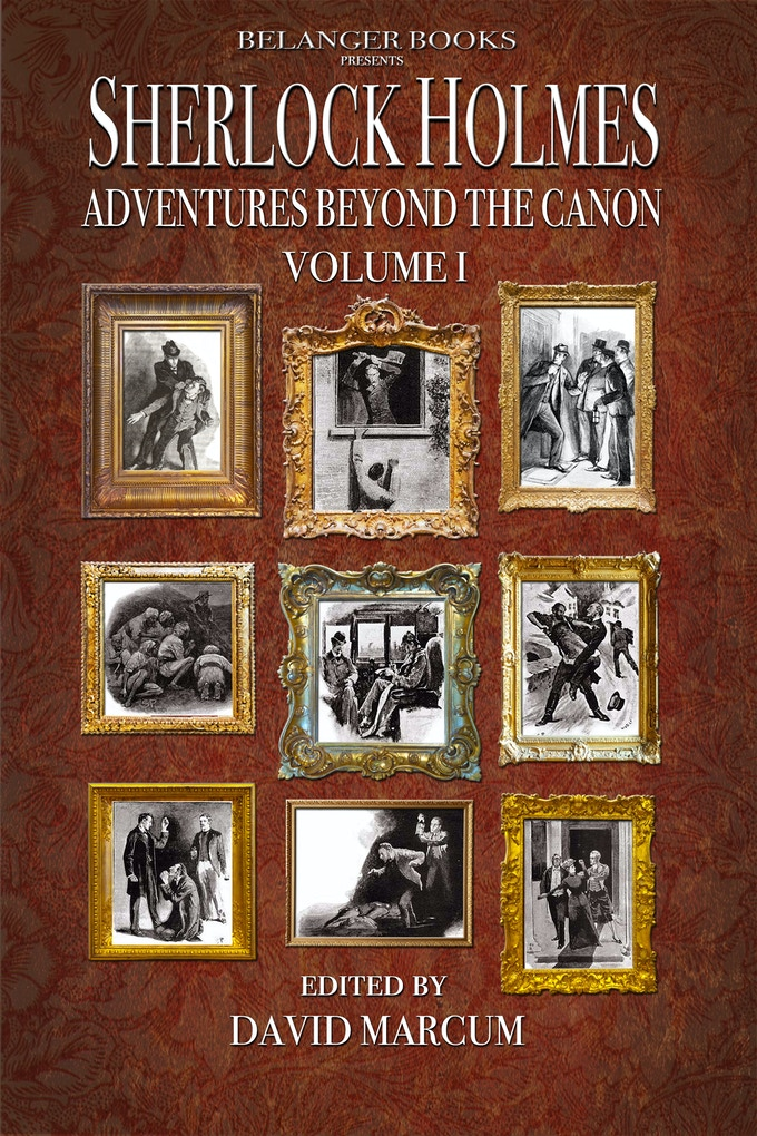 Cover to Volume 1 highlighting the original adventures connected to the new stories in this volume of the anthology.
