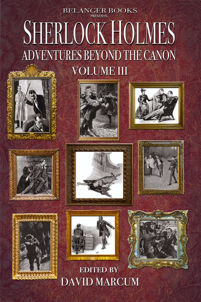 Cover to Volume 3 highlighting the original adventures connected to the new stories in this volume of the anthology.