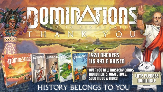 Take a fledgling nation and grow it into an empire that will echo through the ages in this Domino based, Civilisation building game!