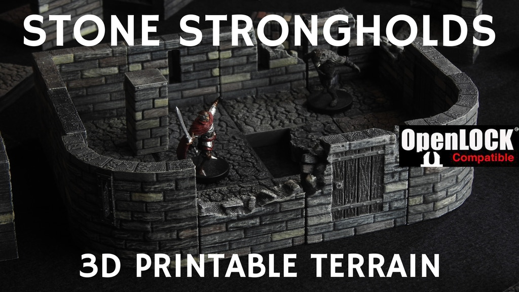 STONE STRONGHOLDS 3D PRINTABLE TERRAIN project video thumbnail