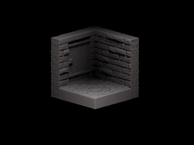 Stone Corner Door