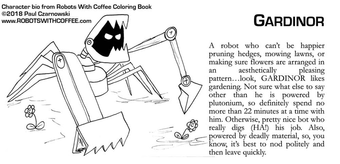 Sample bio from the coloring book