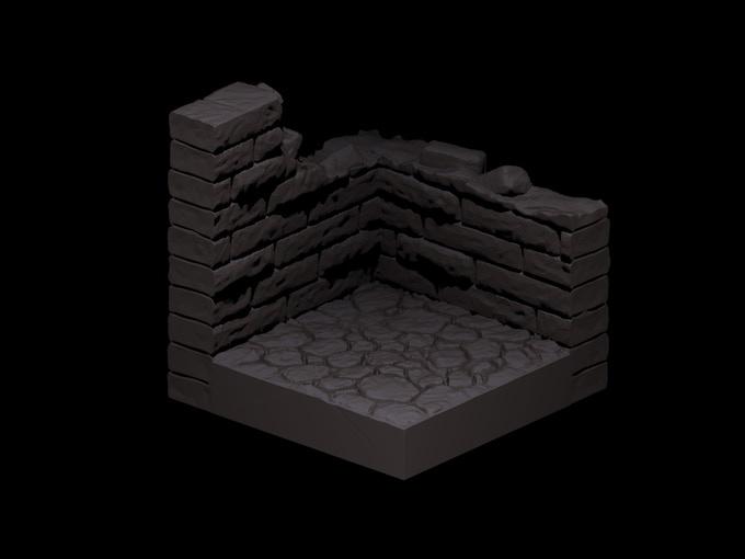 Ruin Stone Corner