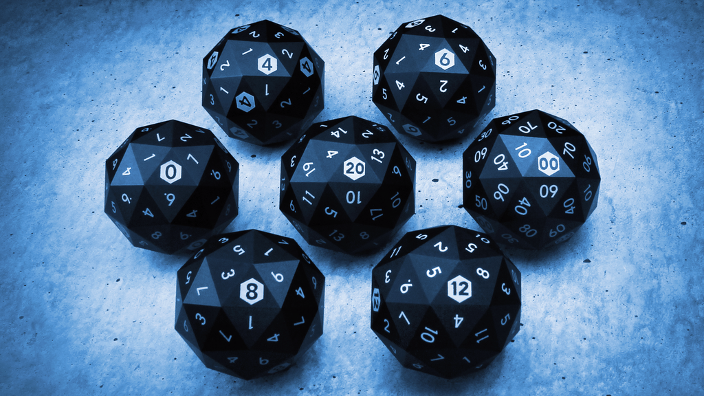 Precision Milled Metal 60-Sided D20 and Full Set of RPG Dice project video thumbnail