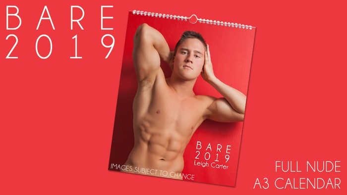 An A3 male nude colour calendar featuring 12 full frontal guys. All hot and all uncensored