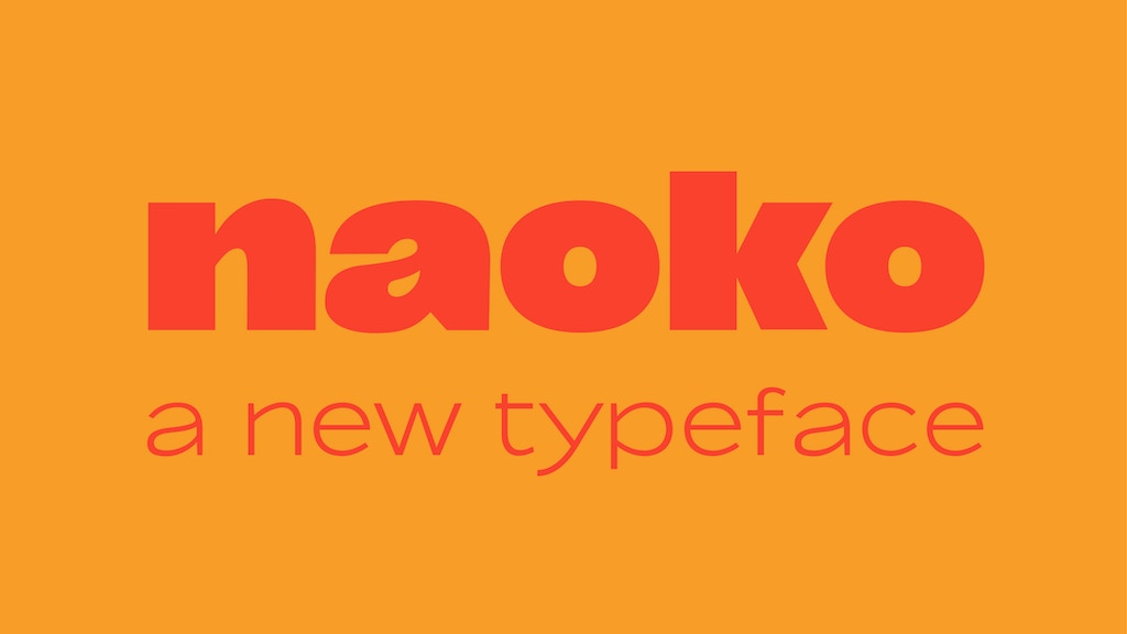 Naoko, a new typeface project video thumbnail