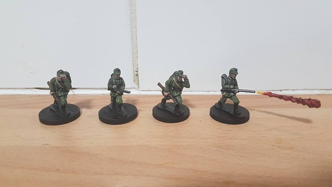 Painted Hugarian Flamer Teams