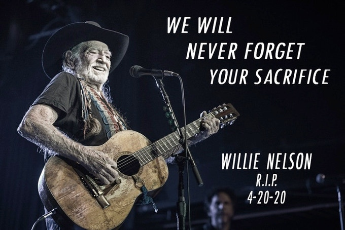 Willie Nelson a hero after sacrificing self to foil terror plot.