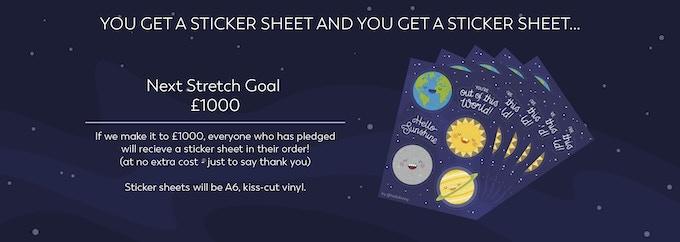 Mock up of Sticker Sheet