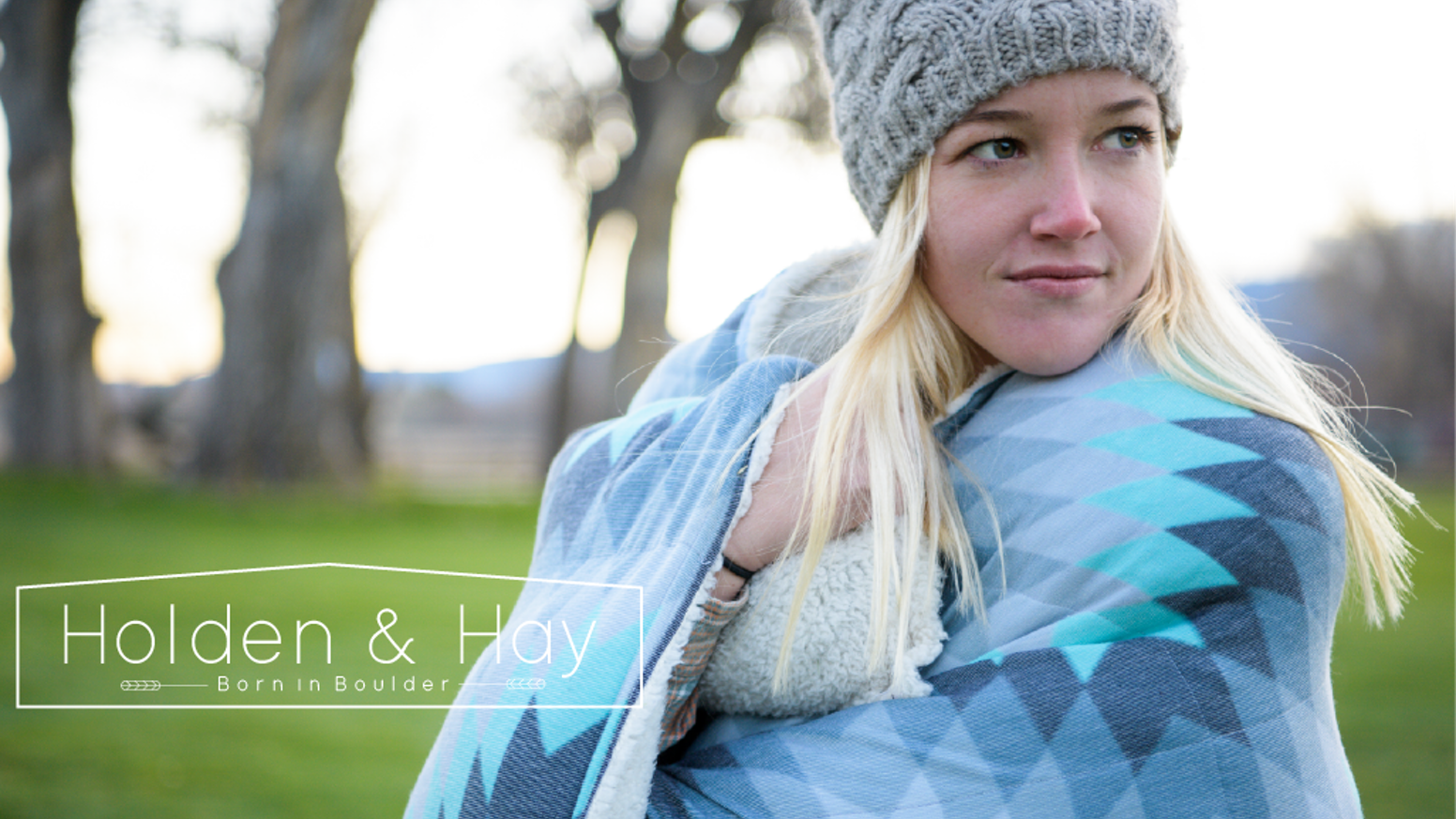 Mindfully made in Colorado with printed wool and recycled mom jeans.
