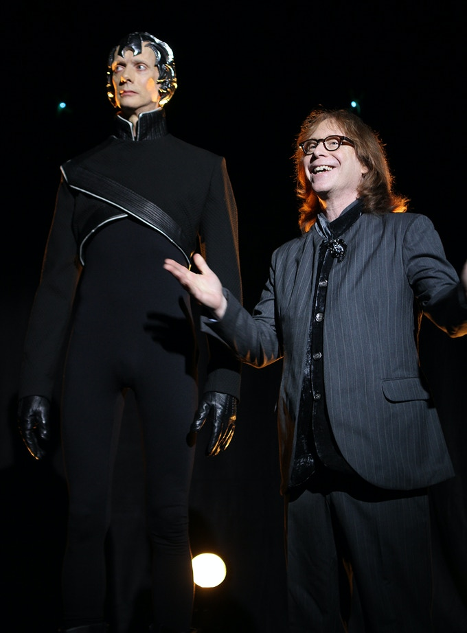 Doug Jones and Bill Mumy, on the set of Space Command: Redemption