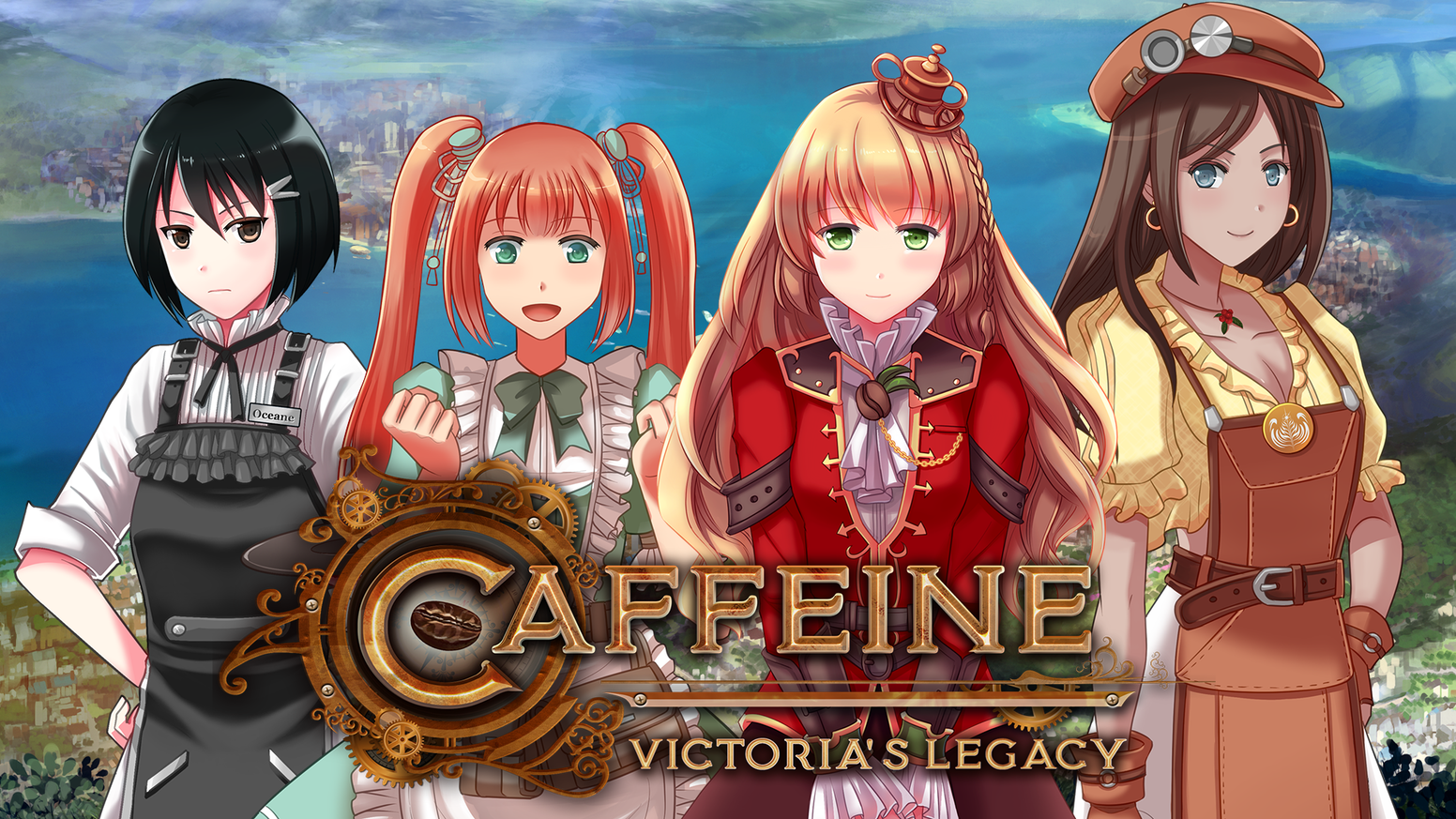 A visual novel about coffee and magic set in a steampunk anime world. Featuring your favorite flat white and cappuccinos!