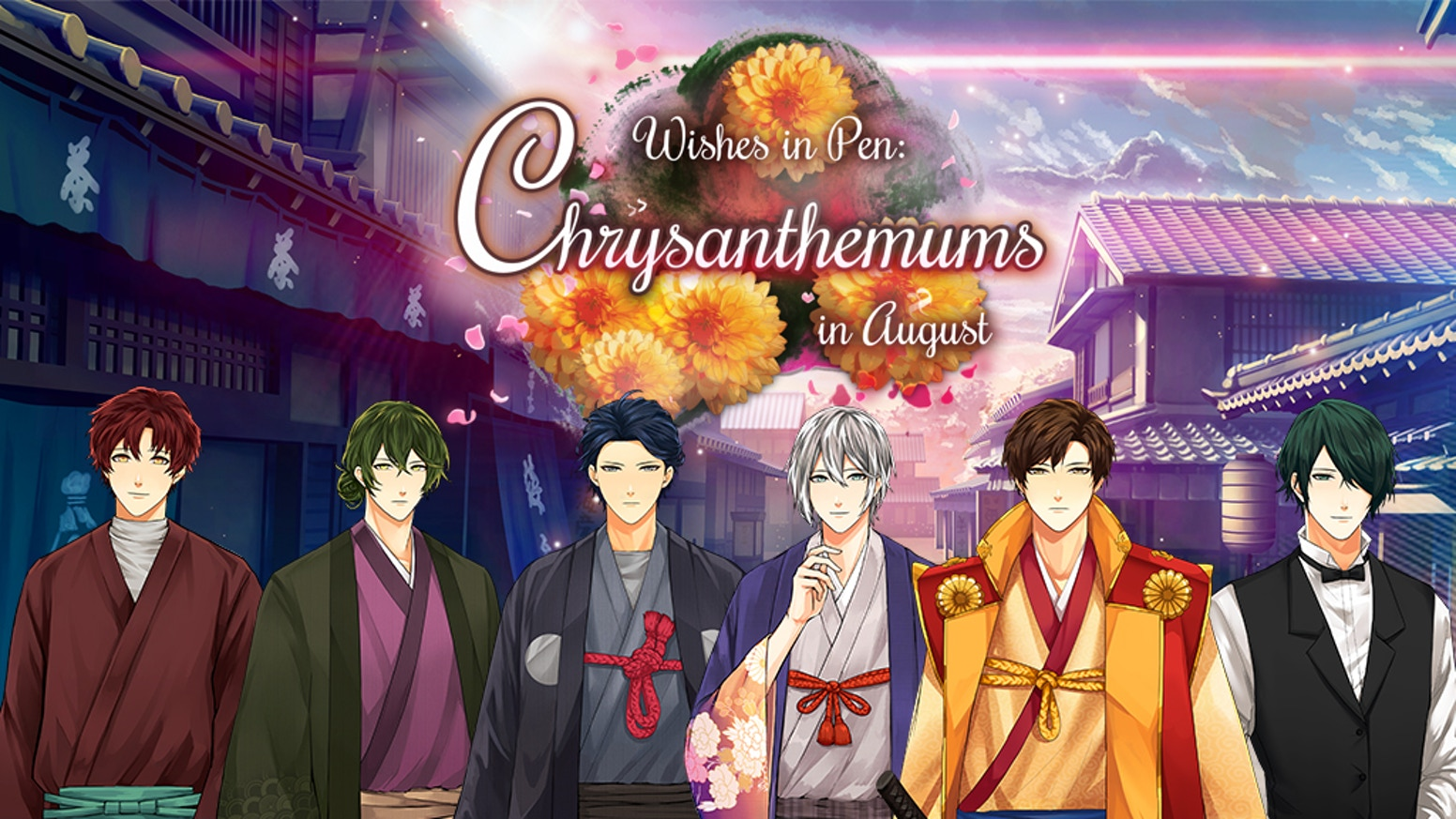 An immersive time-slip otome game that places the player in 1860s Japan, right at the end of the Tokugawa Shogunate.
