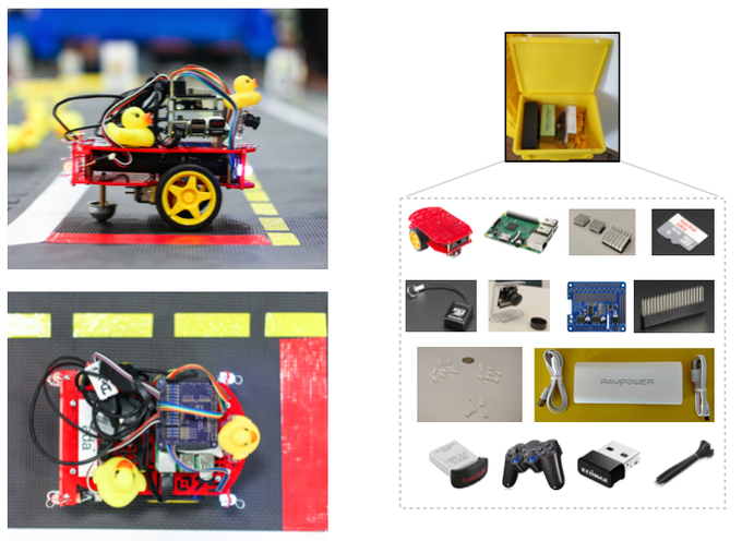 Duckiebots are built from affordable components