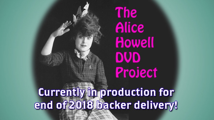 I am producing a new 2-disc DVD set of rare Alice Howell silent comedy shorts. The films come from several archives and have never been available.