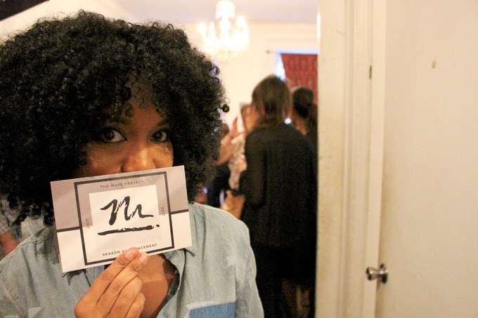 Actor Jessica Frances Dukes at The Muse Project's 2017 Kickoff Party at Torn Page. Photo by Anna Rooney.