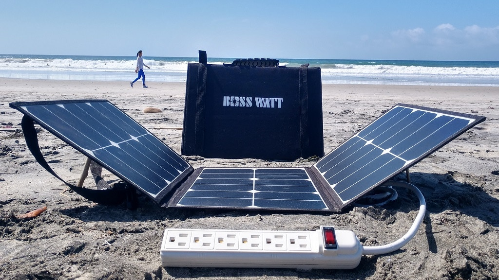 Boss Watt: Solar Panel with a Wall Socket