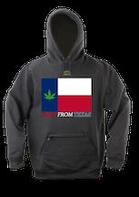 Pot Leaf TX Flag Hoodie