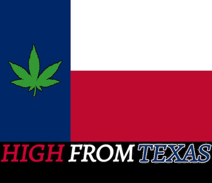 Pot Leaf TX Flag Sticker