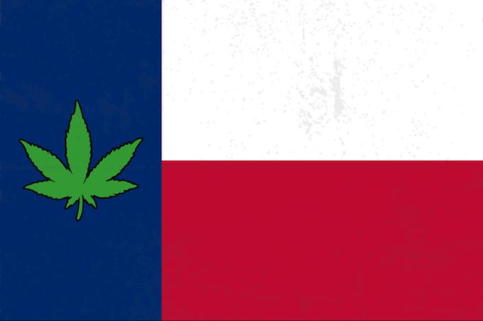 Limited Edition 2' by 3' Pot Leaf Texas Flag