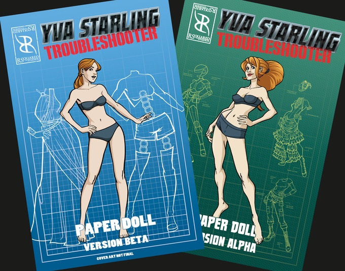 Covers of the Alpha and Beta paper doll collections.