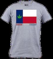 Pot Leaf TX Flag T-shirt
