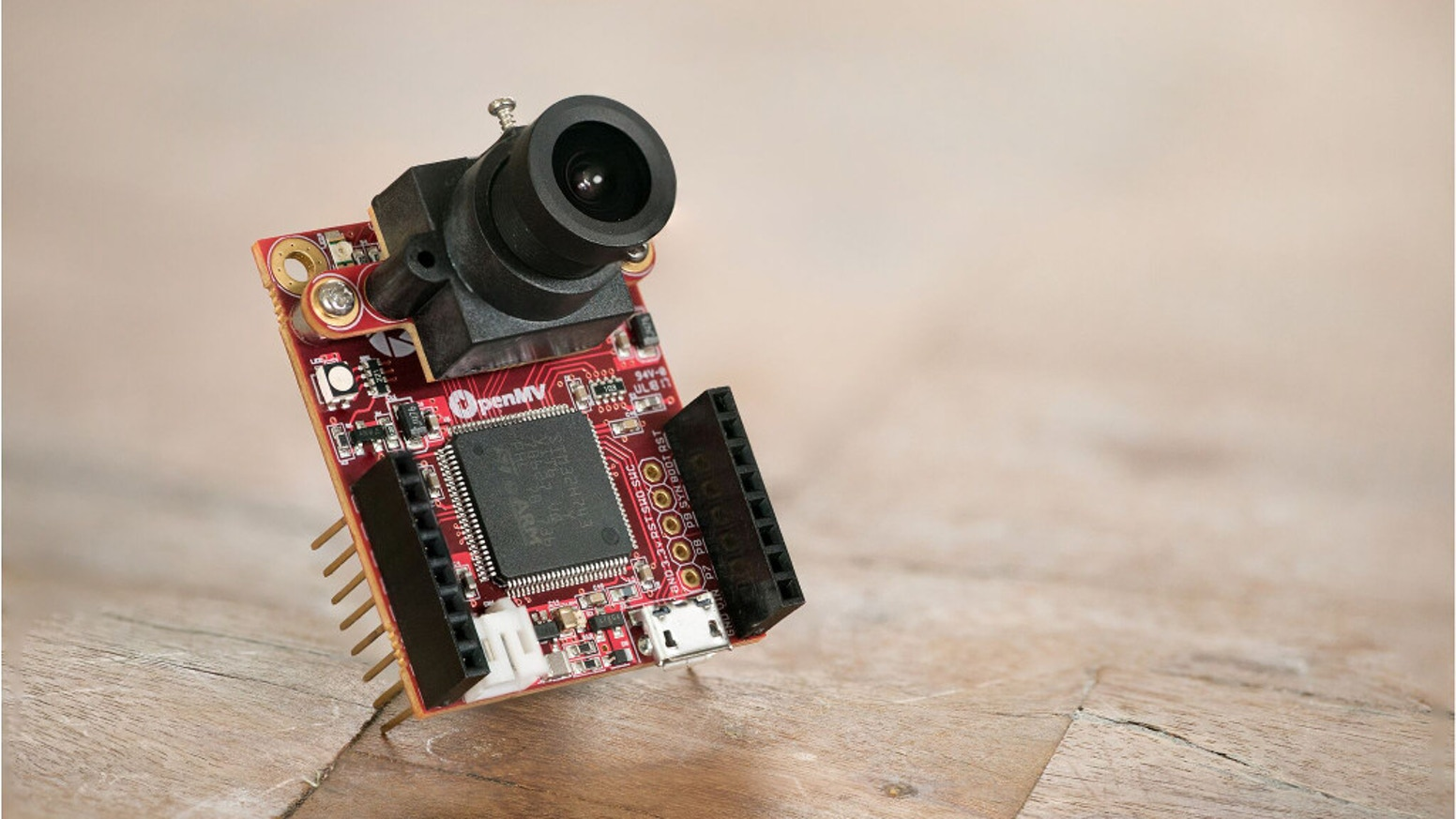 The OpenMV Cam H7 is an open-source MicroPython powered machine vision camera designed for low-power real-time applications.