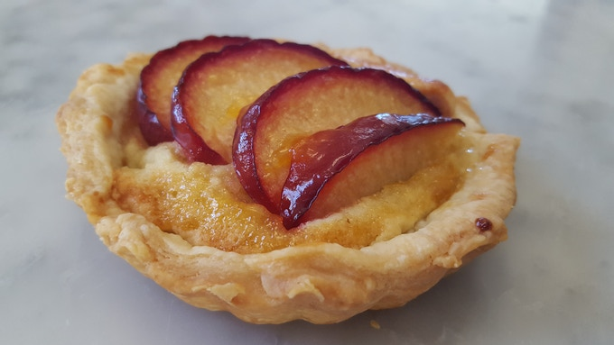 Frangipane Tart with Plums