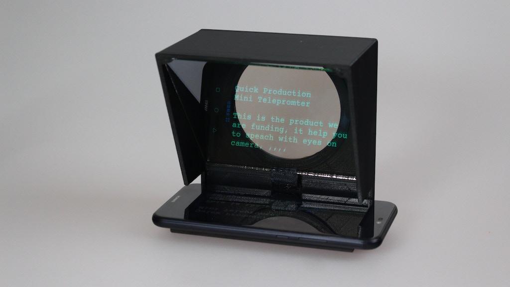 Quickstarter - Speech Text Prompts - Mini Teleprompter project video thumbnail
