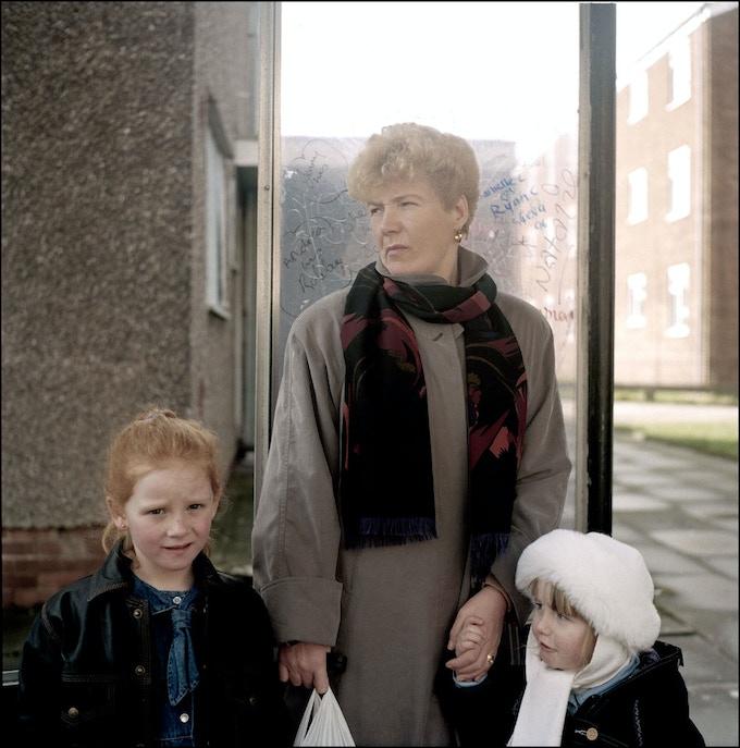 Margaret Burke and her grandchildren 1991.