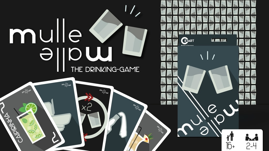 Project image for MulleMalle - The Drinking-Game! Card Game (Canceled)