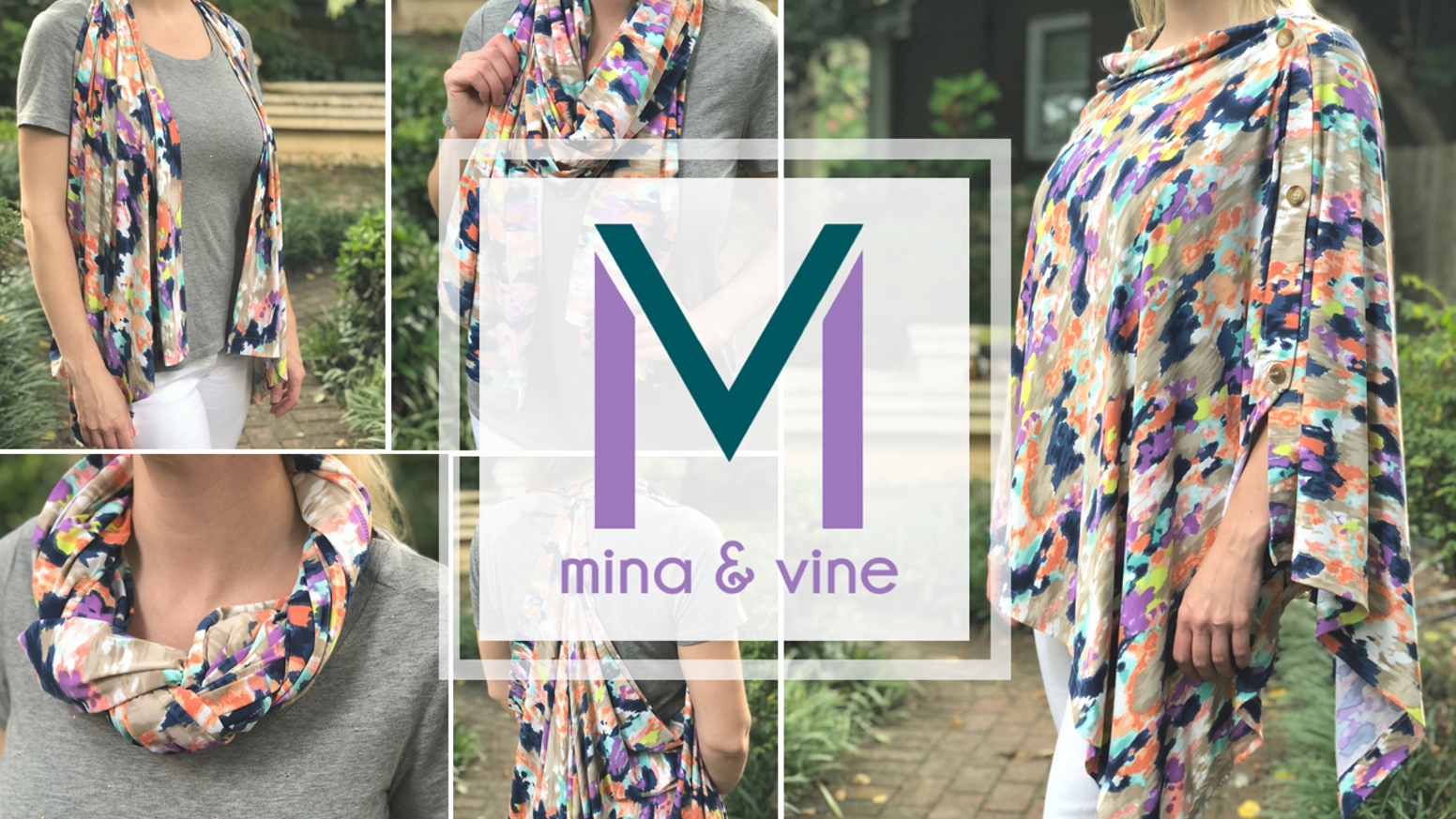 The only nursing scarf to use smart fabric to cool your body, magnetic fasteners for easy closure, & modern prints to keep you stylish.