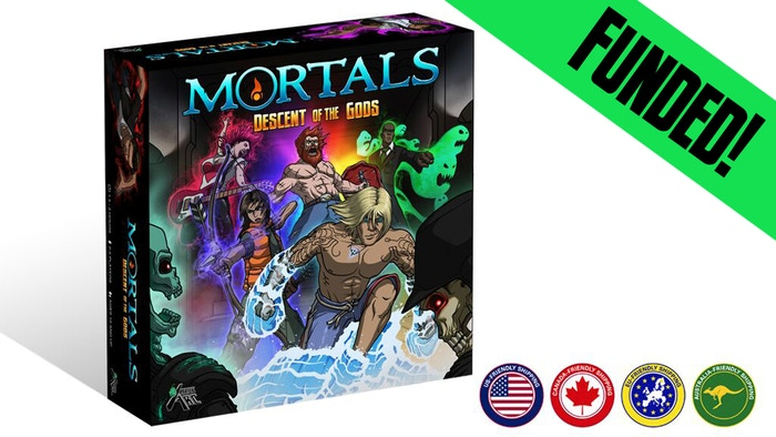 Mortals: Descent of the Gods is a cooperative board game where you play as once-gods, battle monsters, and try to save the world!