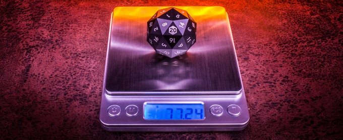77 grams (0.17 lbs) of precision milled solid aluminum