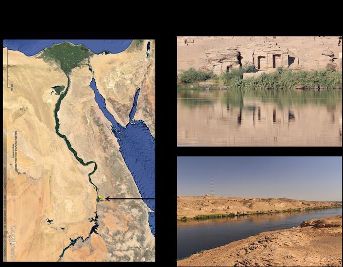 Location of Gebel el-Silsila