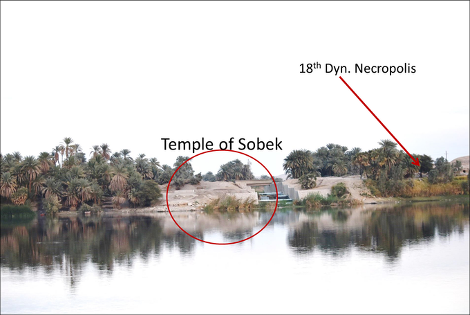 Temple of Sobek seen from the west bank