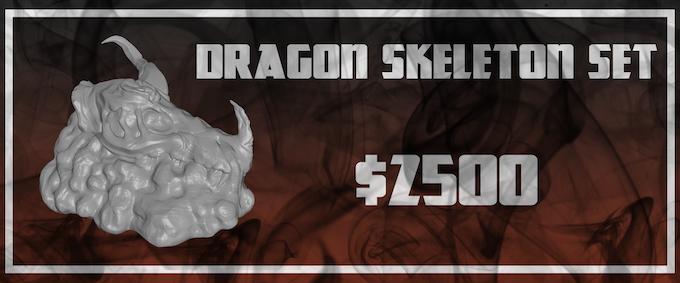 A set of six Dragon Skeleton miniatures will unlock at $2500