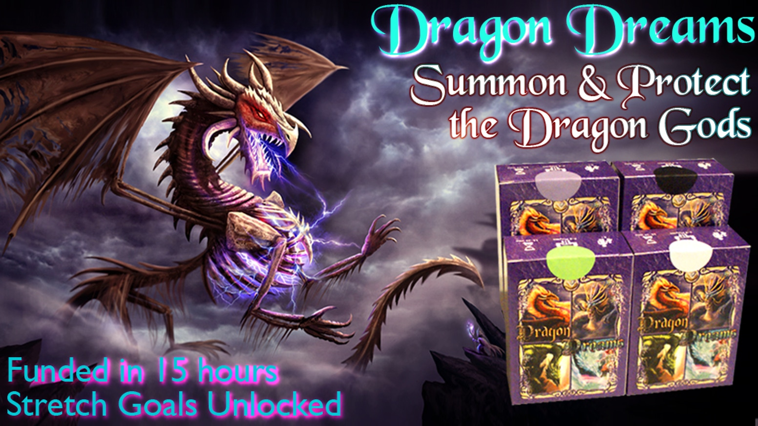 Stand alone and expandable Card Game. Choose 1 of 4 decks or combine all. Choose your Dragon God and dominate. Fast, fun easy to learn.