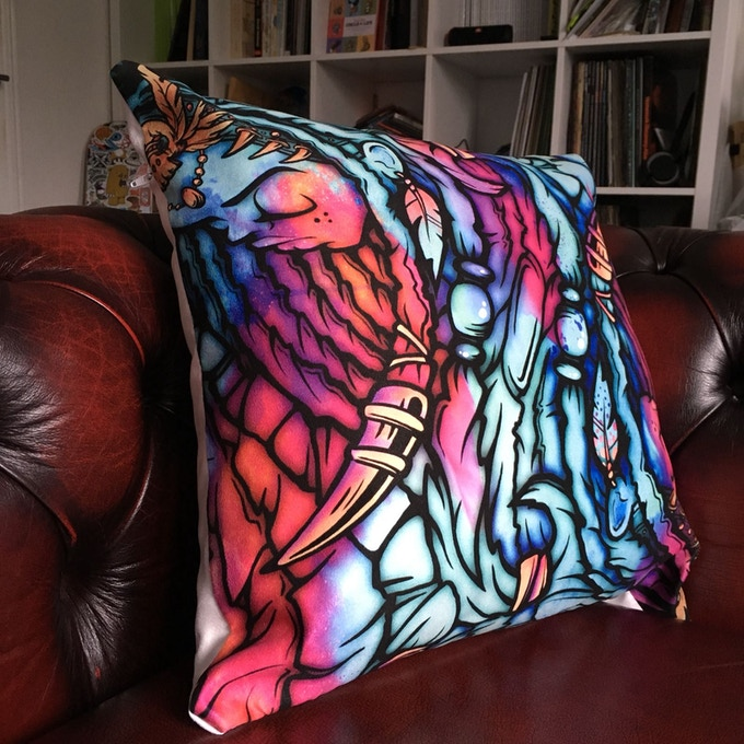 Bespoke, one of a kind, cushion designed by Mose 78