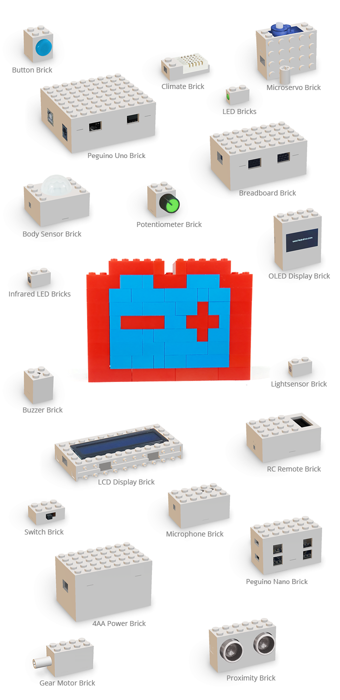 Peguino Merging Toy Bricks With Arduino By Urs Markus Ernst Infraredled Based Wireless Data Voice Communication Circuit Or Raspberry Pi And Combined There Are Virtually No Restrictions For Makers Use Your Maker Skills Combine Them The