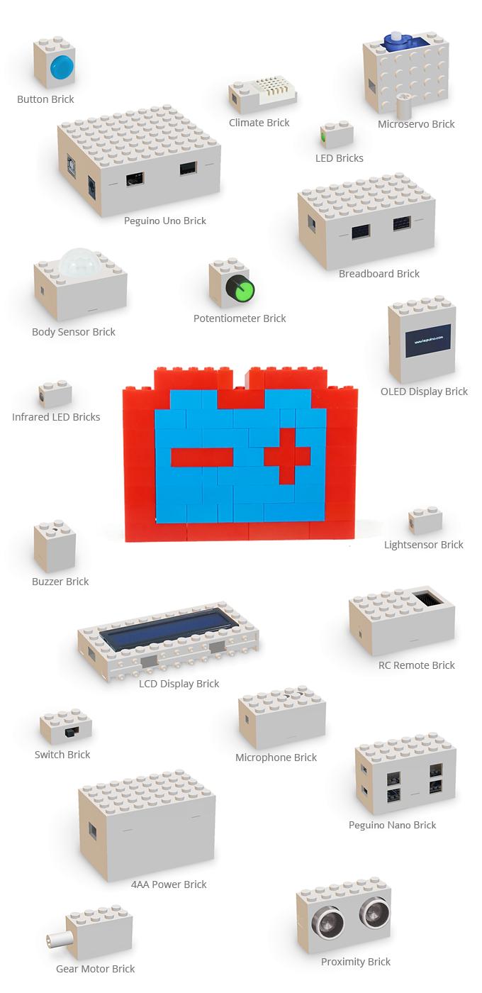 Peguino – merging toy bricks with Arduino™ by Urs Markus Ernst