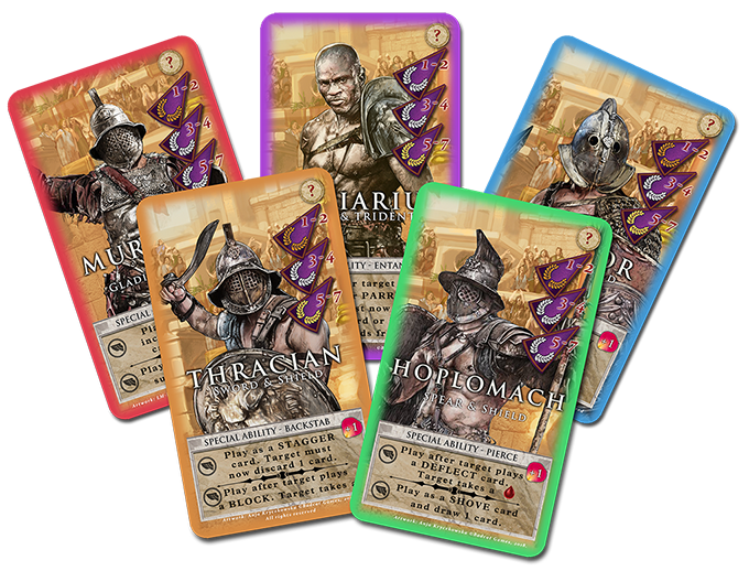The main gladiator cards